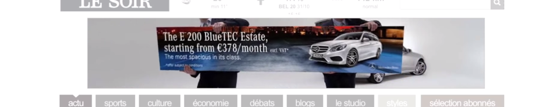 BBDO Belgium and Mercedes-Benz prove that the E-Class Estate is the most spacious in its class