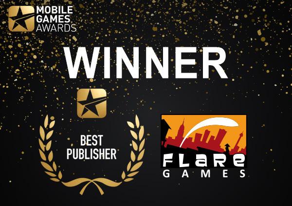 Winner - Best Publisher - Mobile Games Awards 2018