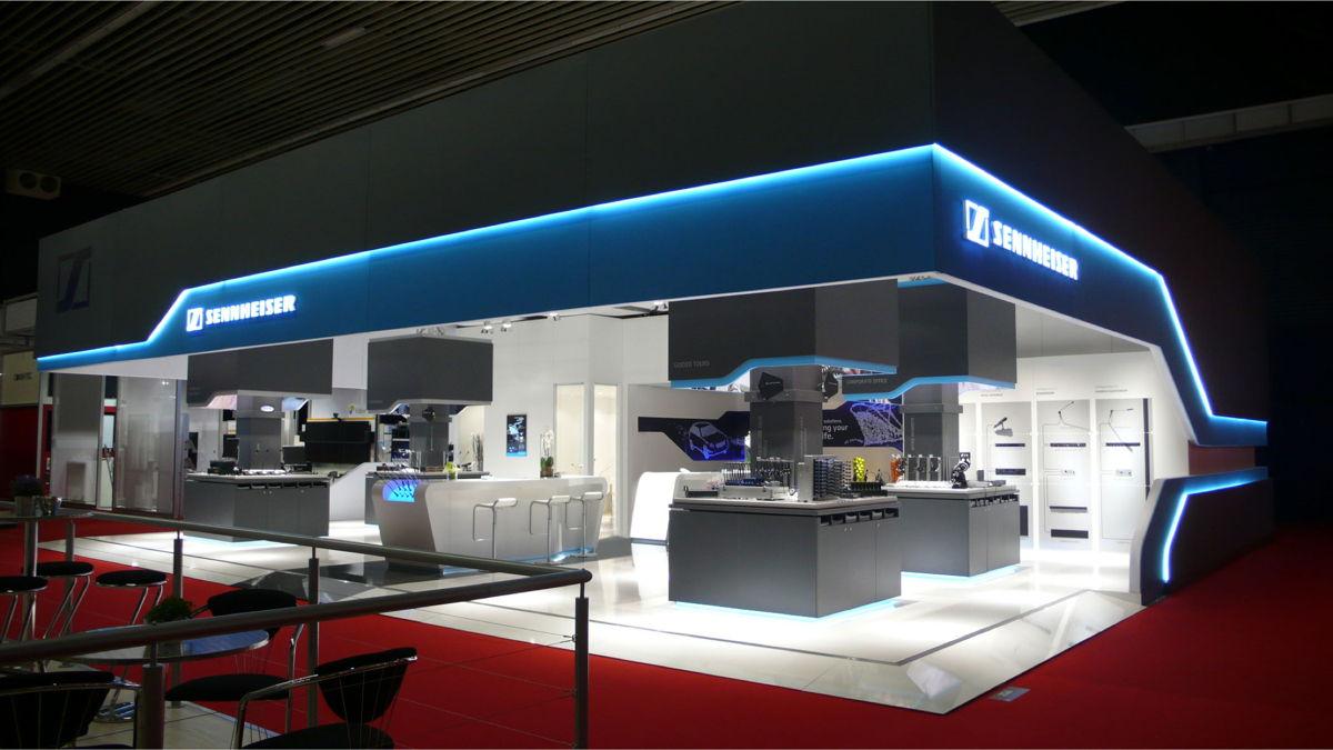 Sennheiser booth at ISE 2012