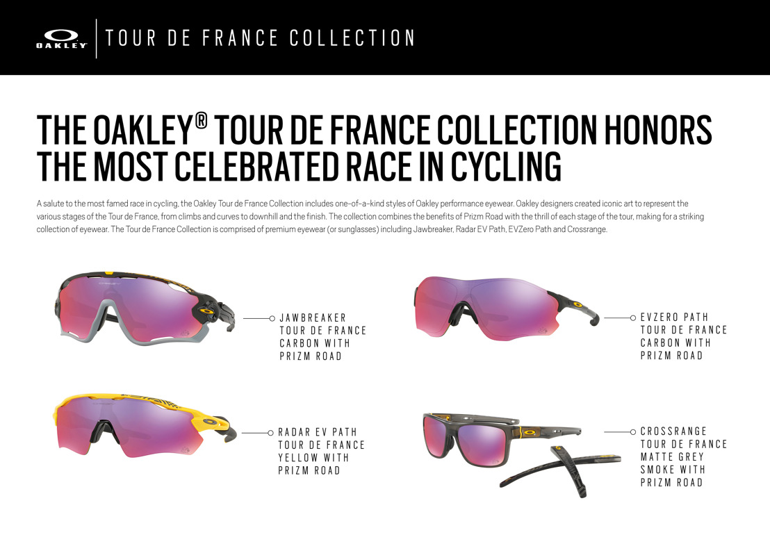 1a9236ab0e The Tour de France Collection is comprised of premium eyewear (or  sunglasses) including Jawbreaker