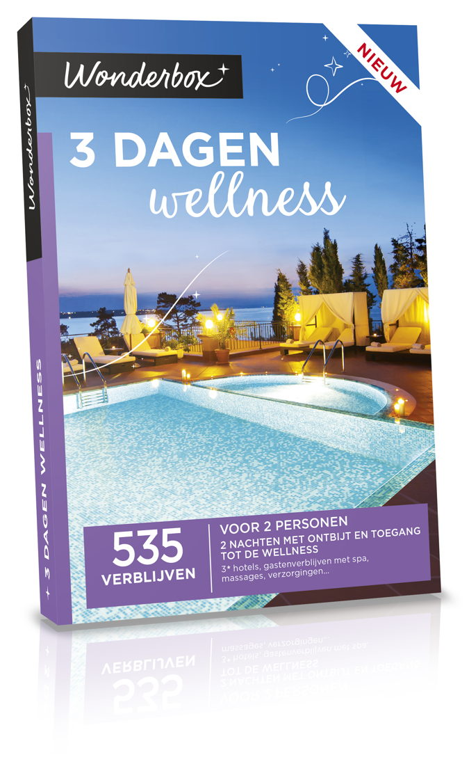 Wonderbox 3 Dagen Wellness 199,90€.