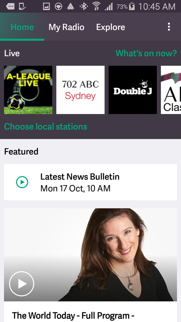 Connected car ready - ABC Radio App users can now access hourly news bulletins on demand