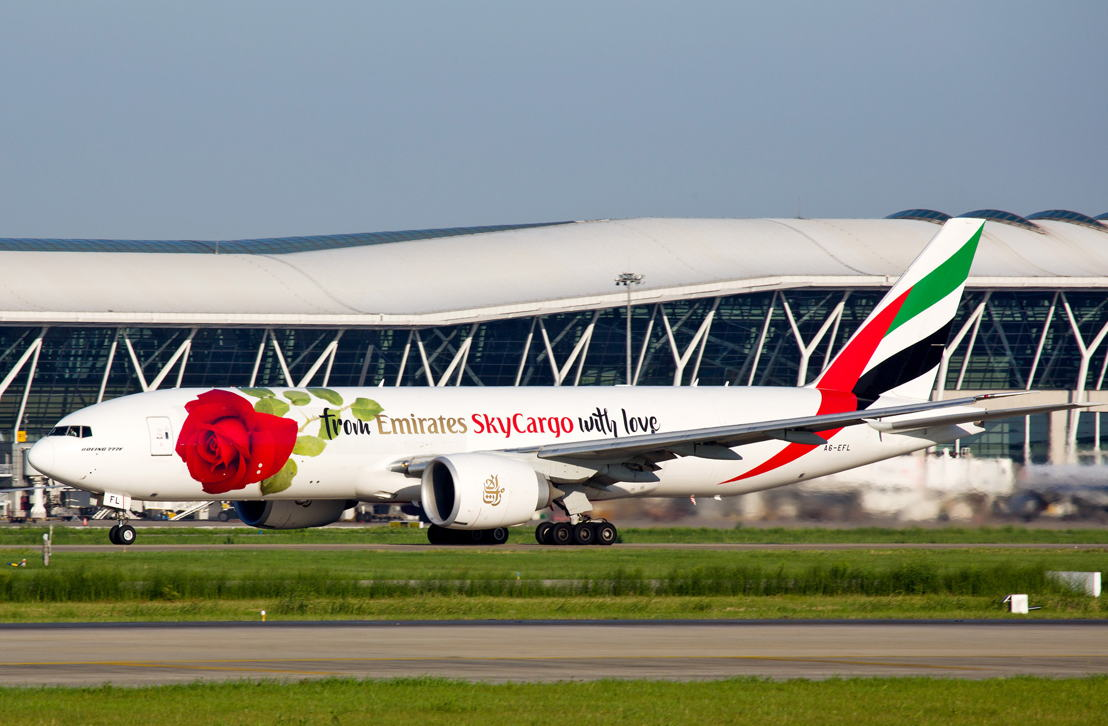 Emirates SkyCargo's Rosie arrived at Shanghai for Qixi festival also known as Chinese Valentine's Day