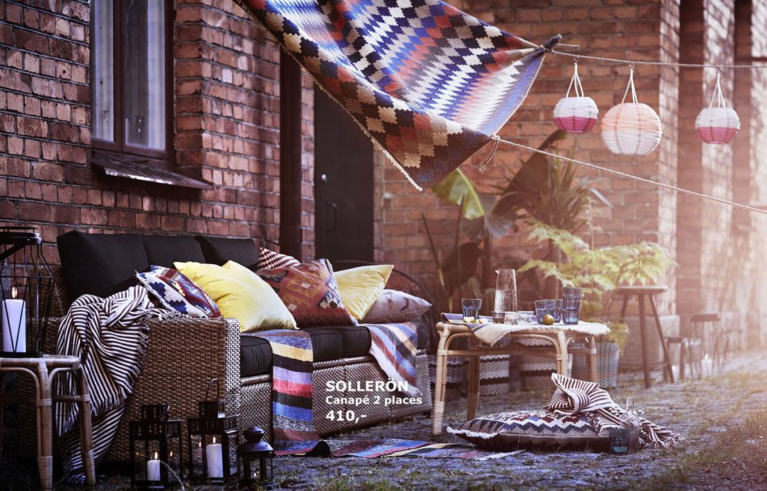 Avec la nouvelle collection été IKEA, quelle joie de passer des vacances chez soi!