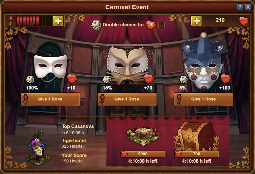 "Forge of Empires ""Venezianischer Karneval"""