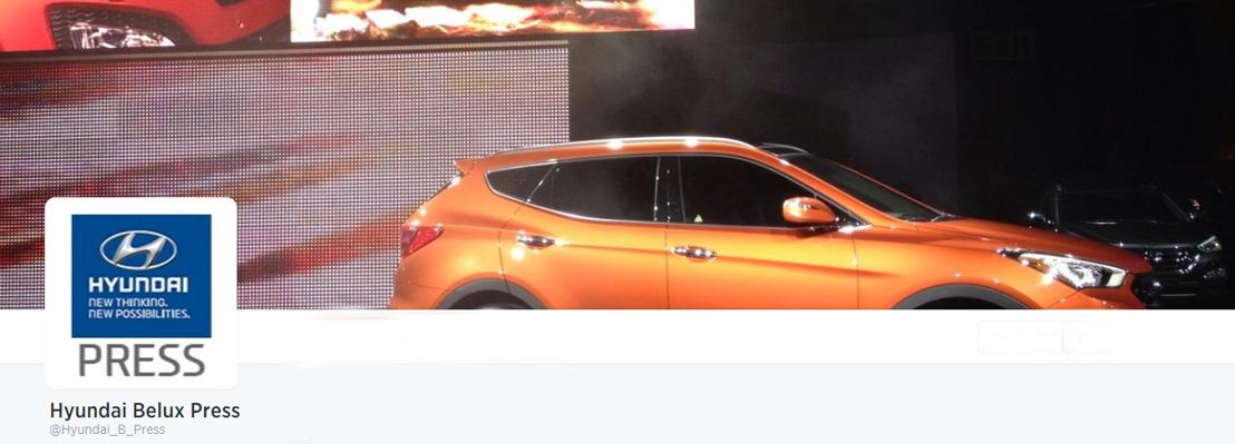 Les communiqués de presse Hyundai Belux dorénavant également via Twitter.