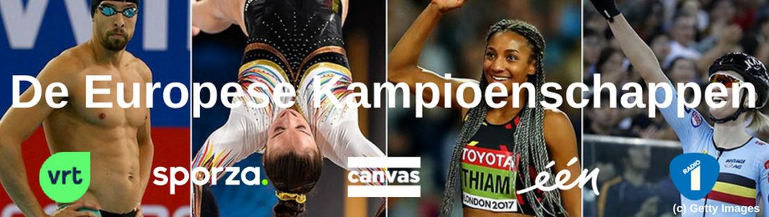 Nog meer topsport bij de VRT: De Europese Kampioenschappen