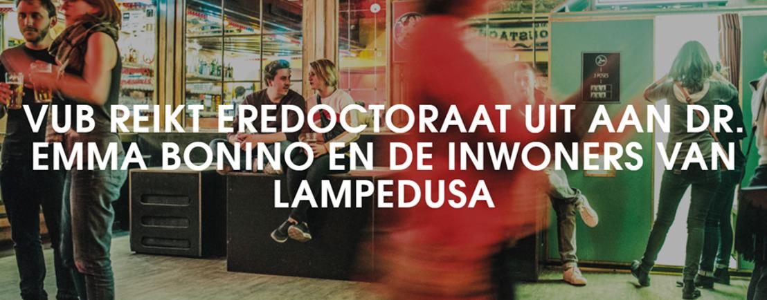 VUB reikt eredoctoraat uit aan Dr. Emma Bonino en de inwoners van Lampedusa
