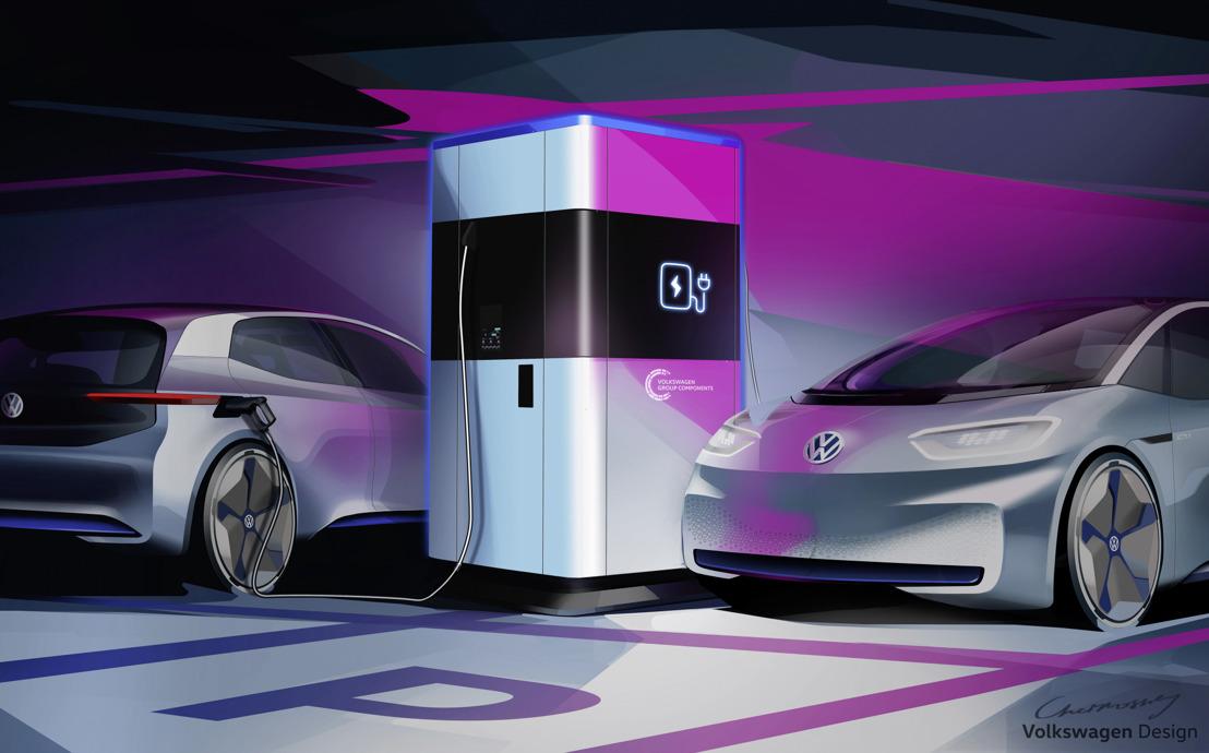 Componentes del Grupo Volkswagen comienza la producción en serie de una estación de carga rápida flexible