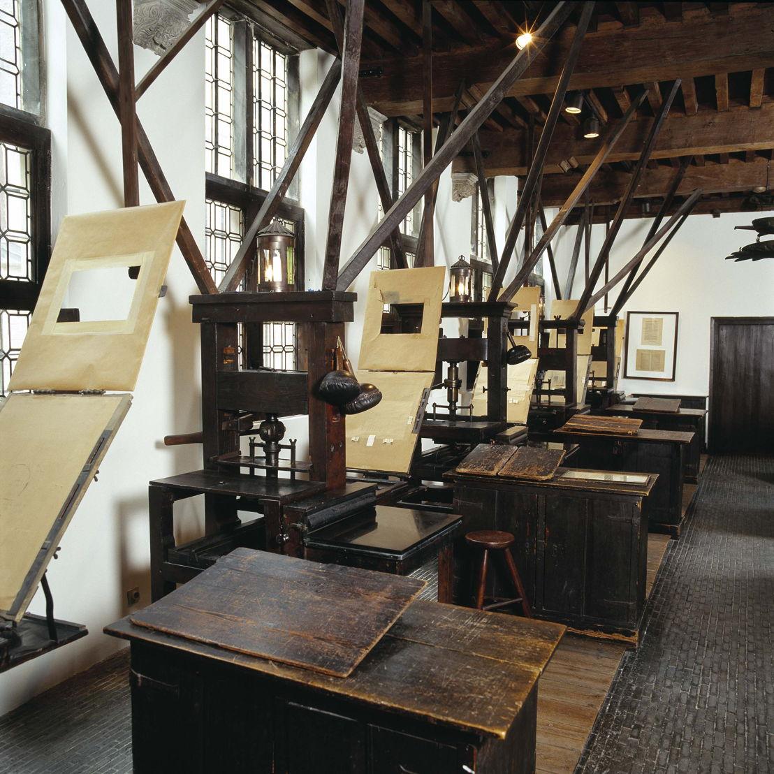 Museum Plantin-Moretus, printing presses, photo: Joris Luyten