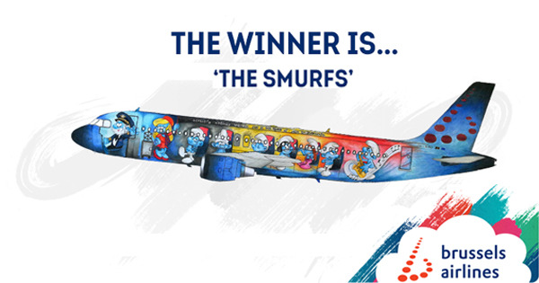 Preview: The Smurfs to become Brussels Airlines 5th Belgian Icon