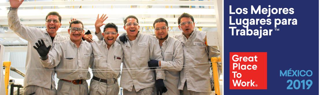 Volkswagen de México es reconocida como uno de los Mejores Lugares para Trabajar