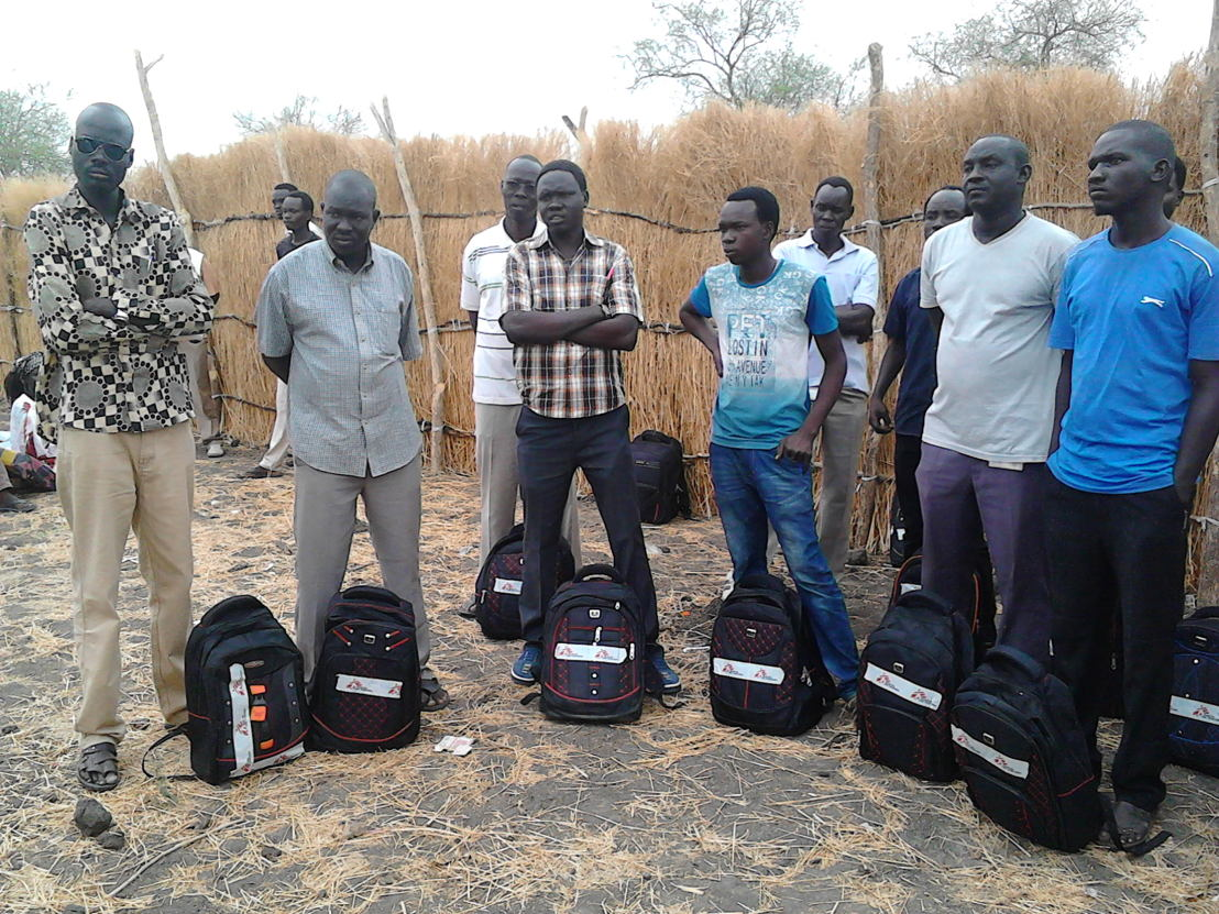 MSF staff are given grab-bags so that they can provide basic health care while on the run (MSF)
