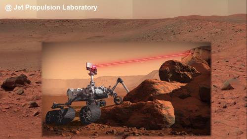 Thales à bord de la mission Mars 2020 : premiers tirs de laser réussis pour SuperCam!