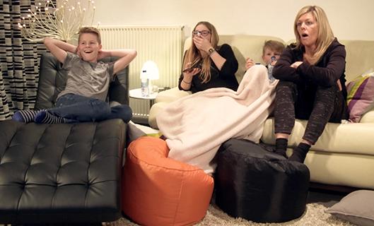 Mieke en haar kinderen Zoë, Isaak en Noa