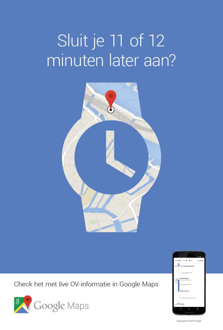 Sluit je 11 of 12 minuten later aan?