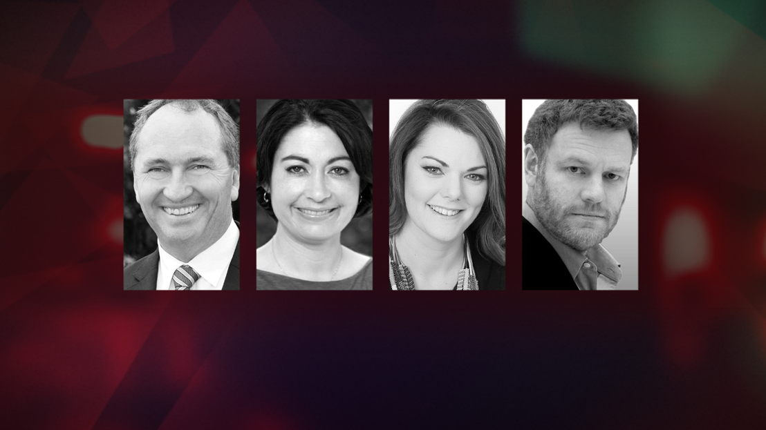 Barnaby Joyce, Terri Butler, Sarah Hanson-Young & Mark Steyn