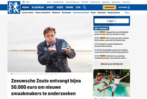 PZC noemt Zeeuwsche Zoute in artikel over subsidie van Zeeland in Stroomversnelling