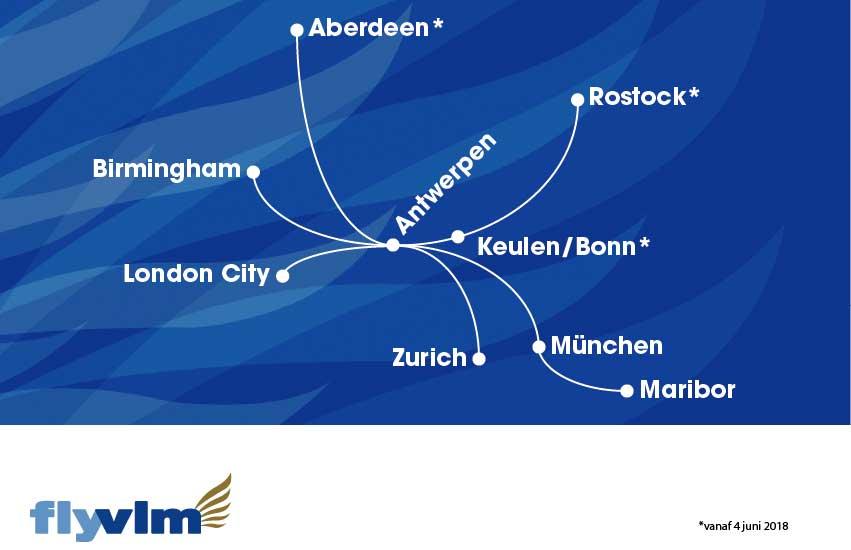 VLM Airlines netwerk