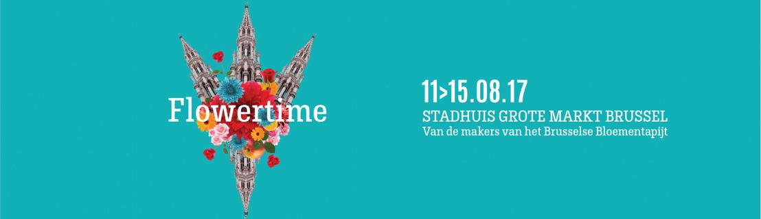 Flowertime 2017: zomerse bloemenmagie in hartje Brussel