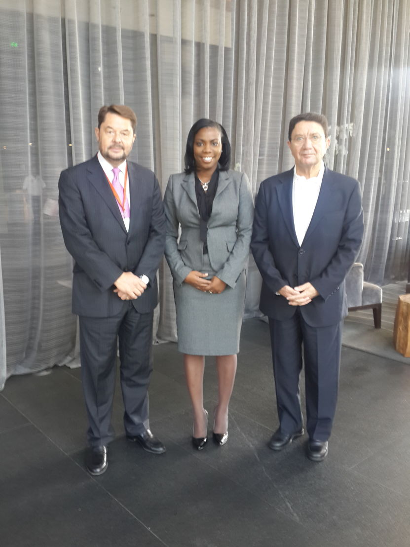 L to R: Mr. Taleb Rifai, Secretary General of the World Tourism Organization, Dr. Lorraine Nicholas OECS Tourism Specialist, Carlos Vogeler World Tourism Director for the Americas
