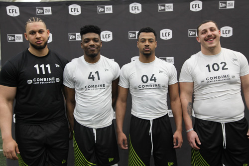 FOUR PLAYERS FROM ONTARIO REGIONAL COMBINE INVITED TO THE NATIONAL CFL COMBINE