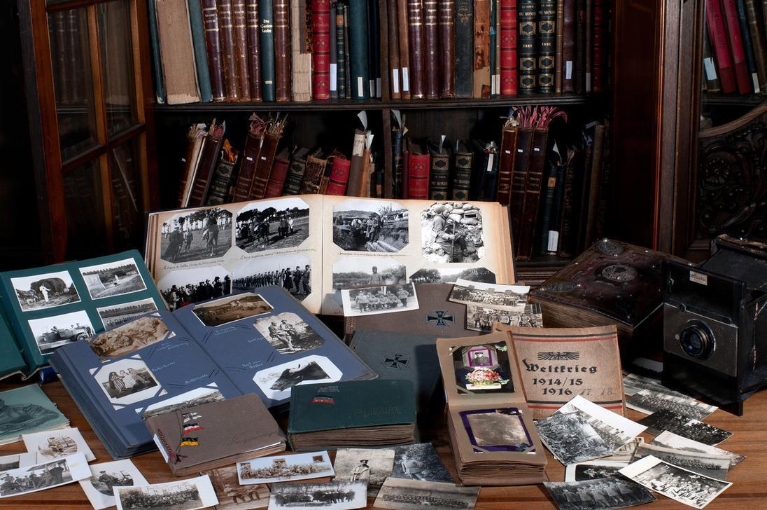 Albums photos de soldats allemands pendant la Première Guerre Mondial faisant partie des collections d