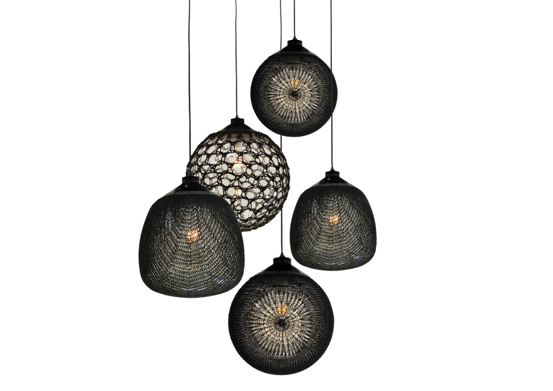 Monsieur Tricot - Gereide verlichting - Monsieur Tricot (Ilia Eckardt - Henry van de Velde Design-led Crafts Award Nominee