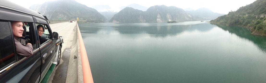 On the road to Yinxiu village