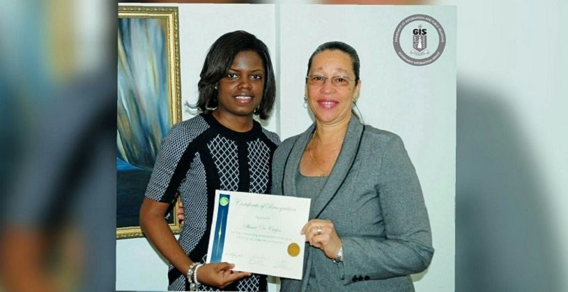 Sharie DeCastro, 30 Under 30 winner from the British Virgin Islands and Dr. Marcia Potter, Permanent Secretary in the Ministry of Education and Culture, BVI   ©