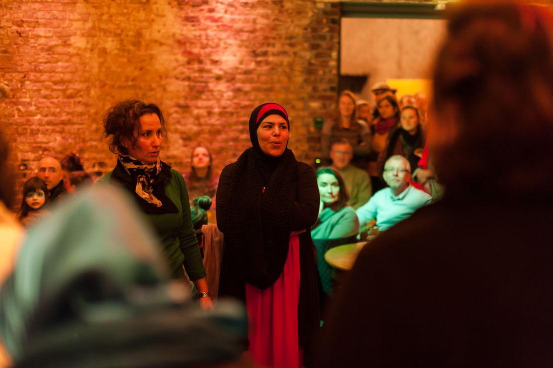 """Opening 7/02 2015 - """"You You You"""" van Myriam Van Imschoot - foto: Géraldine Warland"""