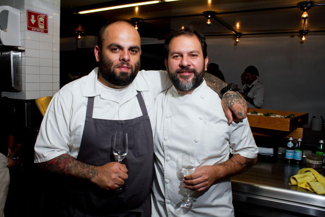 Pablo ibánez y Chef Enrique Olvera