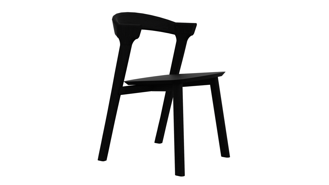 Ethnicraft Oak Bok dining chair in Black