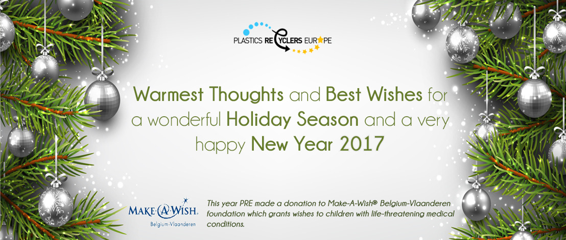 Best Wishes for a wonderful Holiday Season from Plastics Recyclers Europe