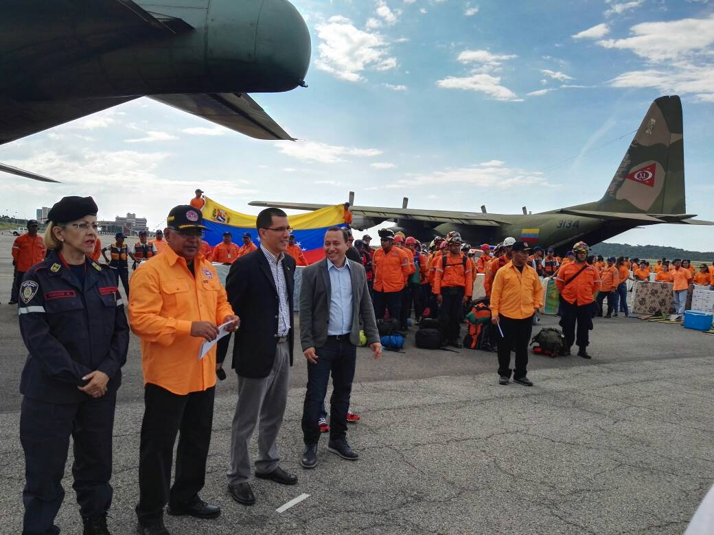 Military plane departs the Bolivarian Republic of Venezuela for Antigua carrying much needed emergency relief.