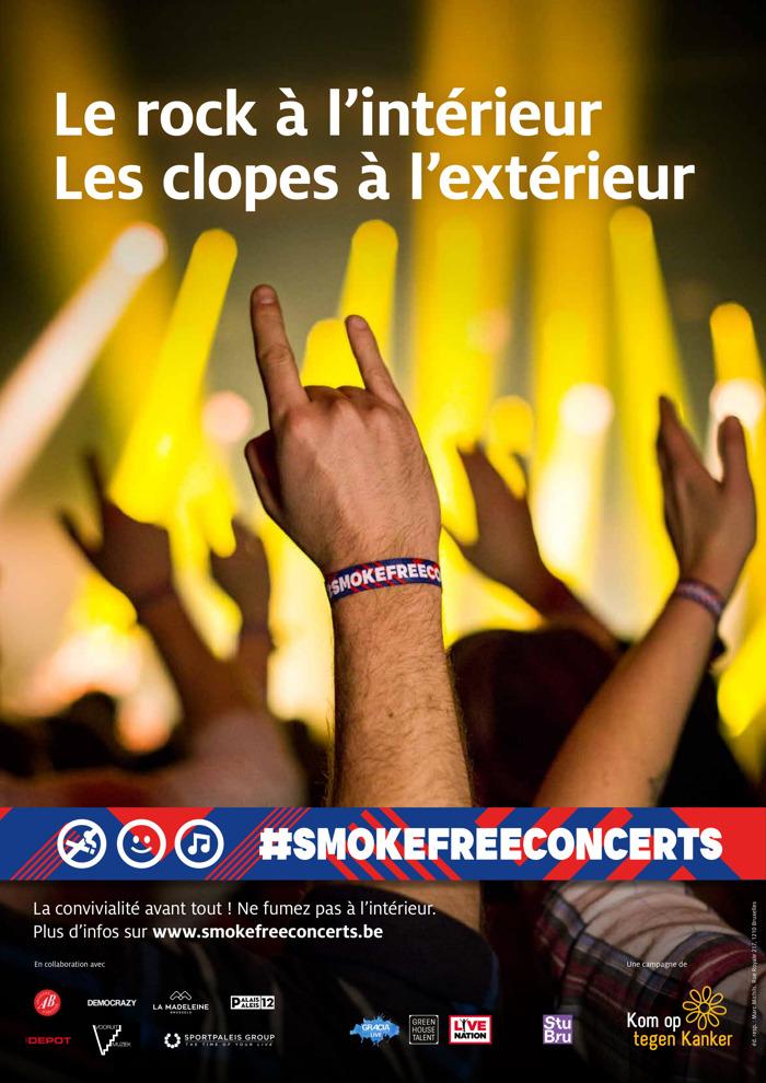 Preview: FamousGrey et Kom op tegen Kanker lancent #smokefreeconcerts
