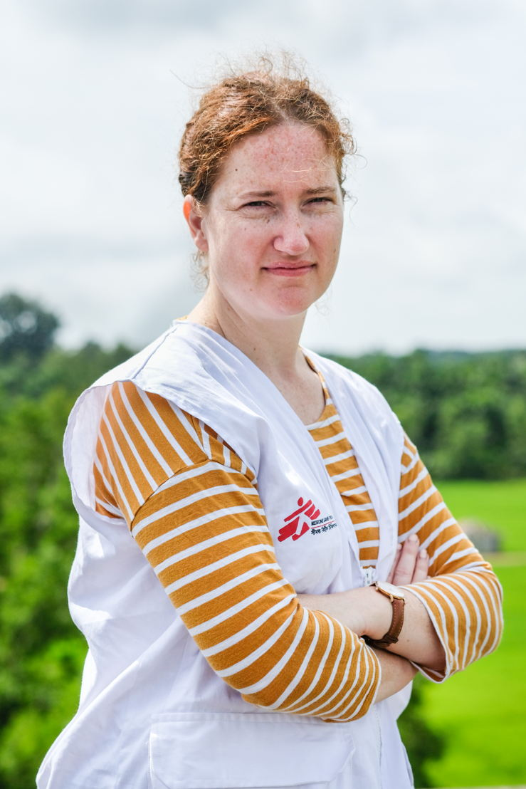 Kate White, Emergency Medical Coordinator, Bangladesh Emergency Response. Photographer: MSF