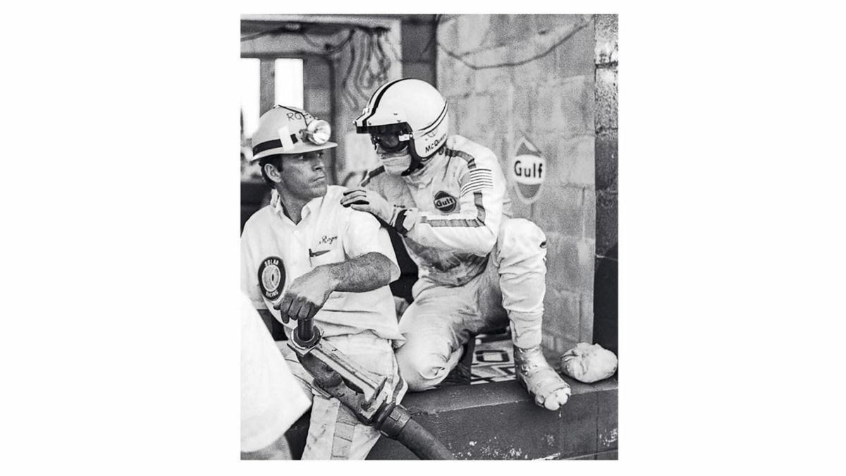 Steve McQueen (derecha), 1970, Porsche AG