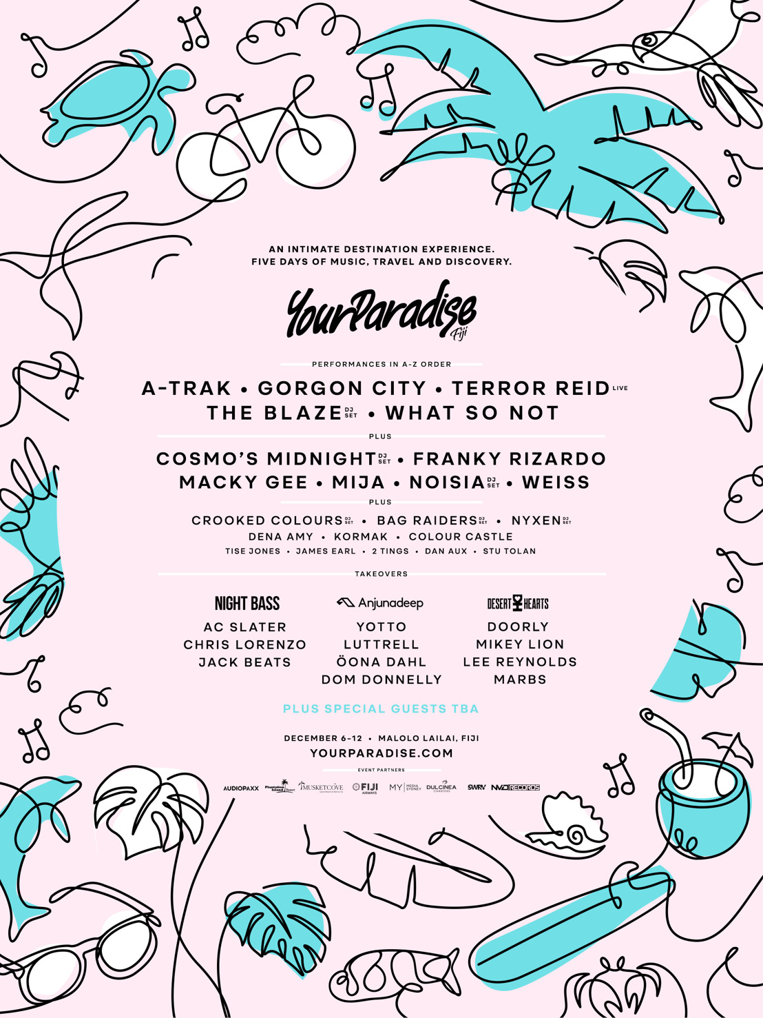 Your Paradise Fiji Releases Lineup for December 6-12th 2019 Event