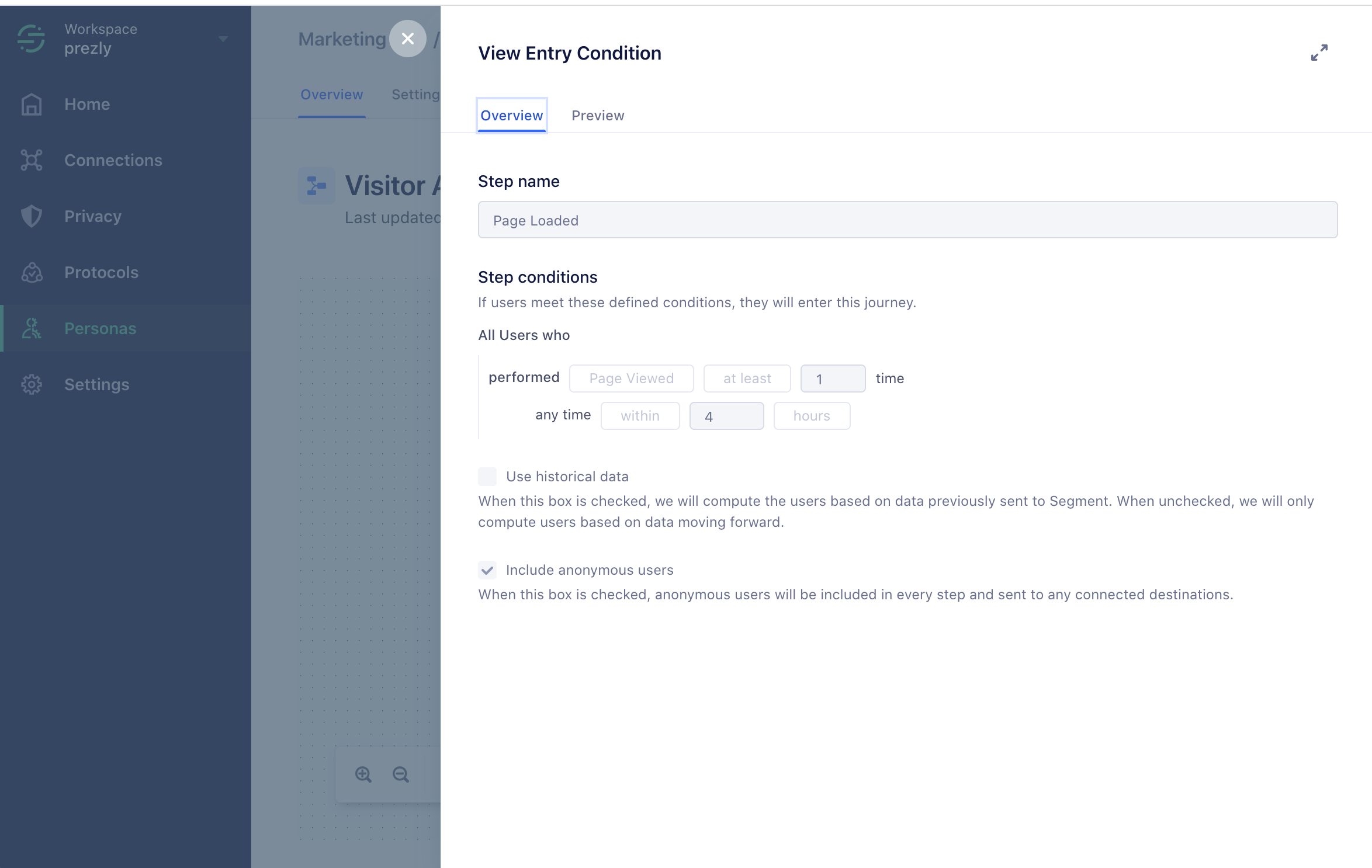 Entry Condition - Page Load