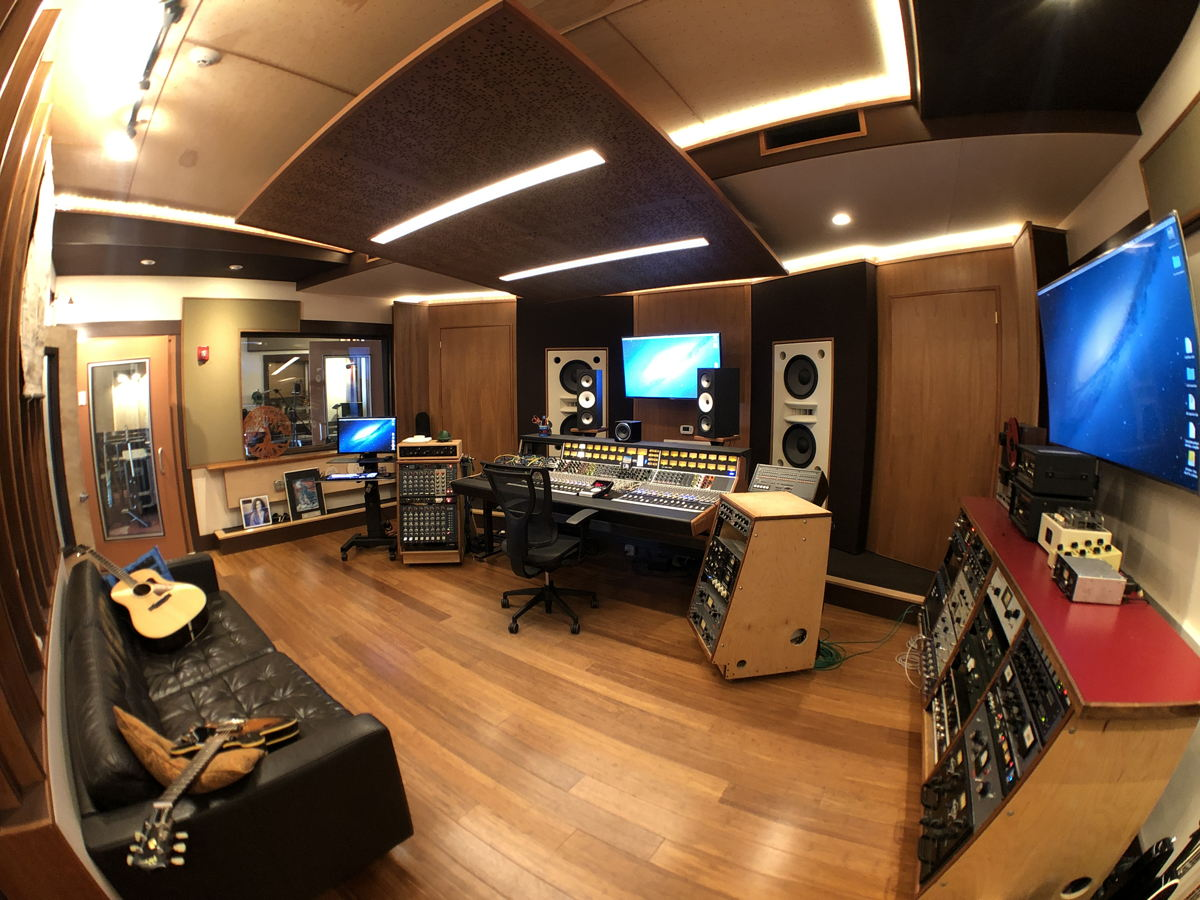 Mad Oak Studios C.R. from rear note  custom large format Symphonic Acoustics monitors. Photo by PK Pandey