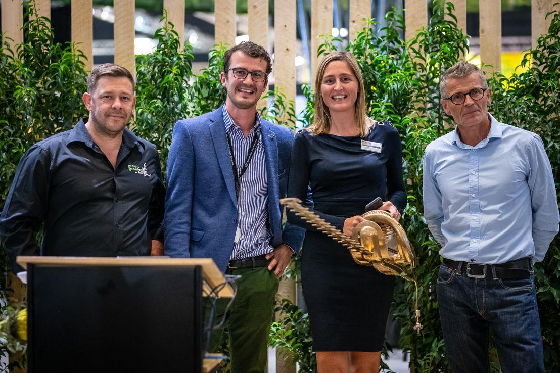 Green Idea Award: Marc Galle, Gil De Vis, Christine Meulemans, Geert Meysmans © Green