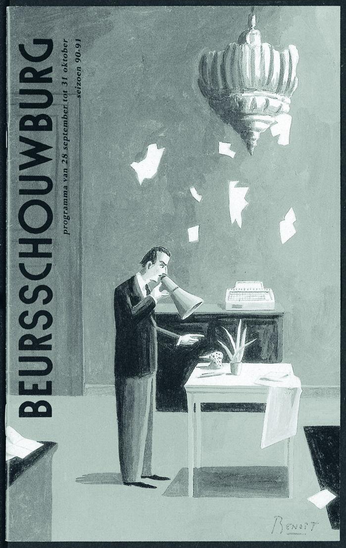 In oktober en november 1990 presenteert de Beurs Het verboden museum, een tentoonstelling en boek van Benoît
