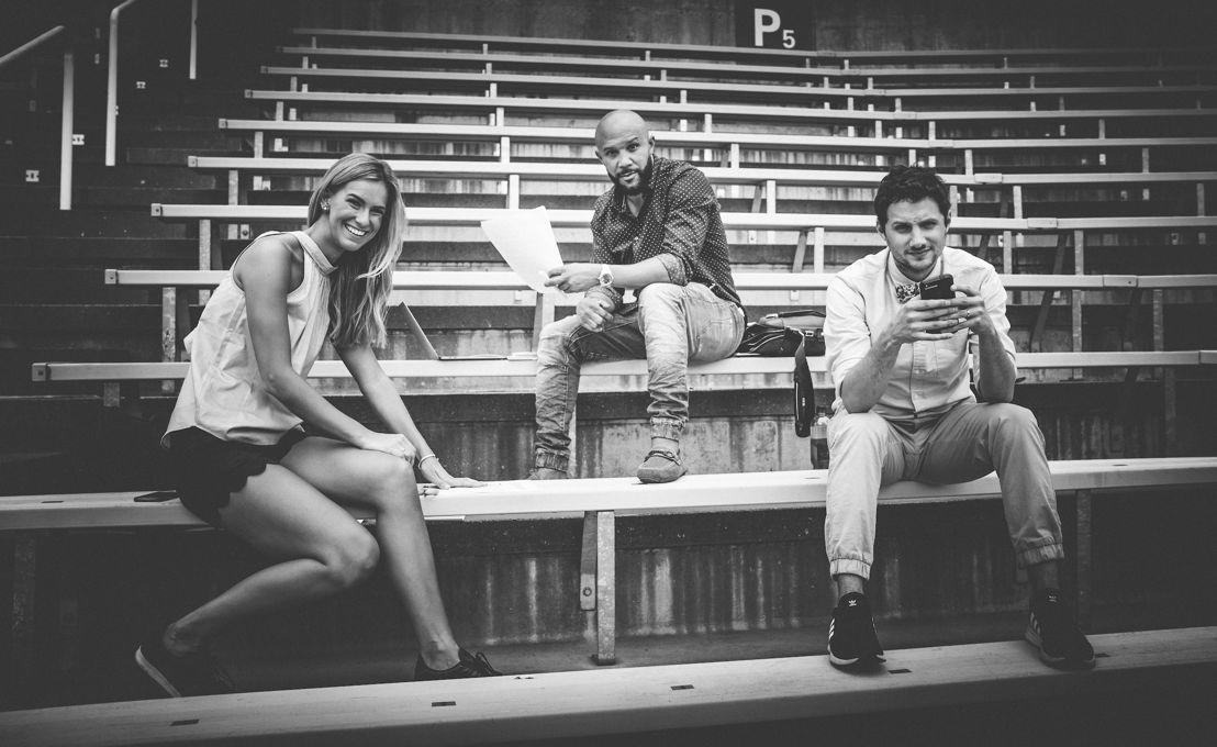 (G->D) Brodie Lawson, Davis Sanchez et Max Rosenberg. Crédit photo : Johany Jutras/LCF
