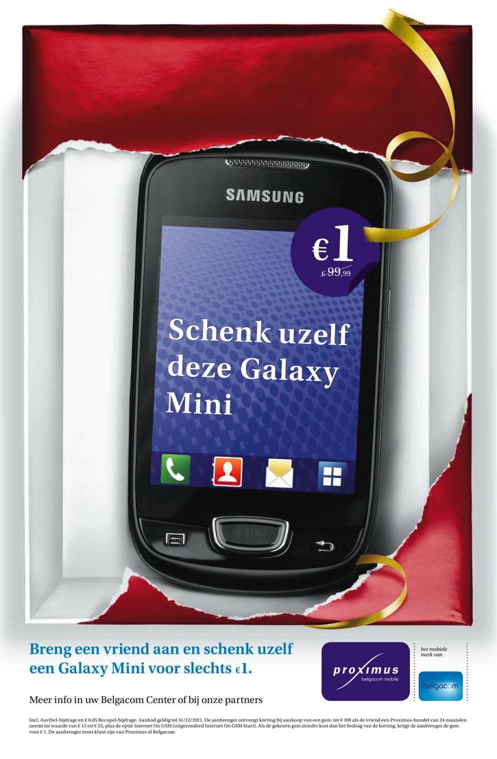 Newspaper - Promo Samsung Galaxy Mini smartphone