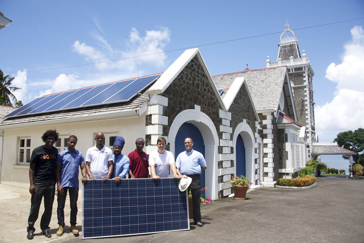 Installation of solar photovoltaic power system on the public residence of the Governor-General, Government House.