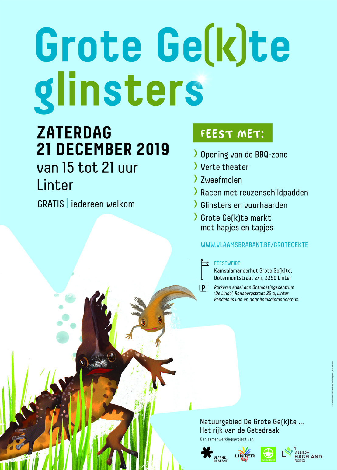 Winterfeest Grote Ge(k)te Glinsters op 21 december