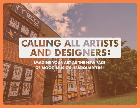 Moog Music Announces Call to Artists Worldwide for New Factory Mural Design
