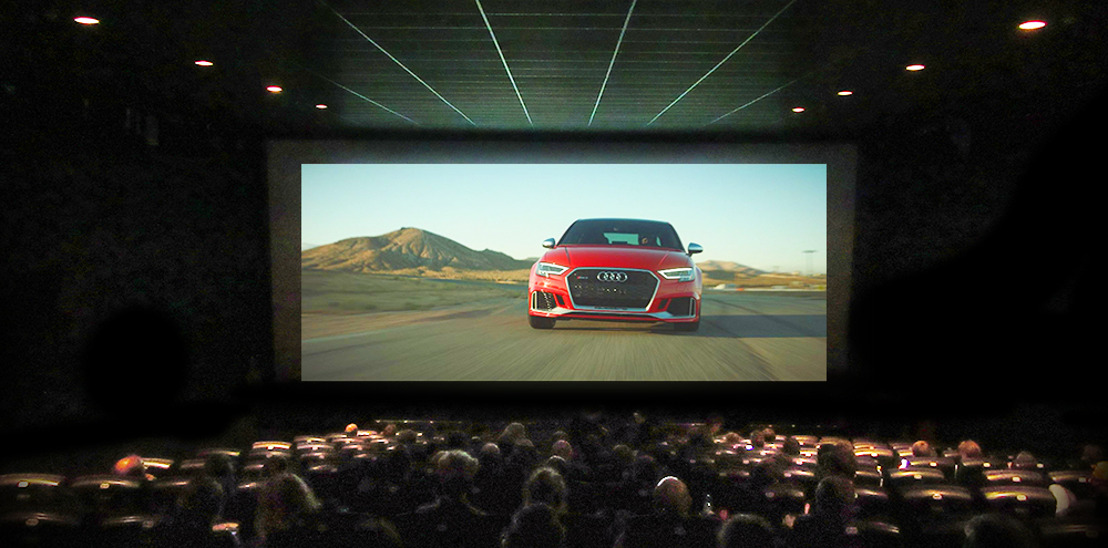 Audi leaves cinemagoers rocking in their seats with its very first 4DX commercial