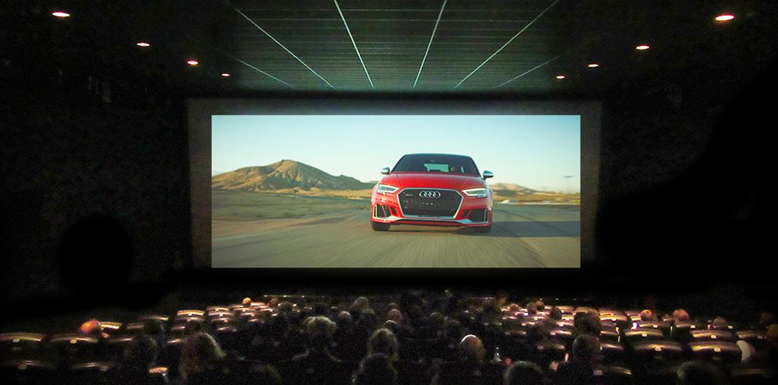 Audi défie les cinéspectateurs dans le premier spot 4DX